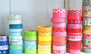 I love washi tape. Easy to work with and great colors to choose from. (Find at craft stores, Target, etc.). Photo Source: Craft Hubs